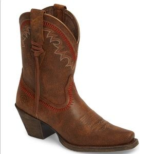 Worn once western Ariat boots